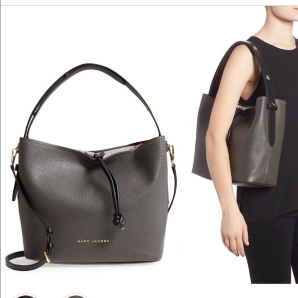 a936f228b799f9 Marc Jacobs Bags   Mark Jacobs Road Leather Hobo Bag In Graphite ...